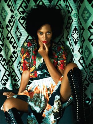 Solange Knowles y su look hipster