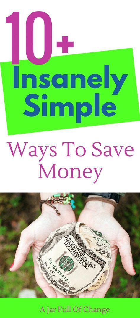 These are insanely simple ways to save money! I don't feel like I'm going without either. #waystosave #frugalliving #moneysavingtips via @jarfullofchange