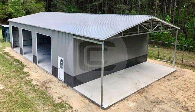 40 X 80 Vertical Roof Garage 40 X 80 Steel Garage Building Prices Steel Garage Buildings Steel Garage Metal Shop Building