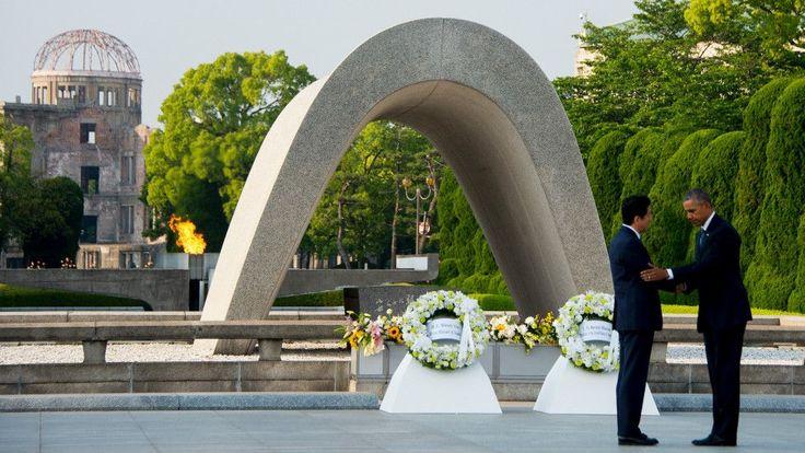 """""""La muerte cayó del cielo"""": el tributo del presidente de EE.UU., Barack Obama, a las víctimas del ataque nuclear de Hiroshima - BBC Mundo"""