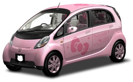 Totally Geeky or Geek Chic? Mitsubishi Hello Kitty Car