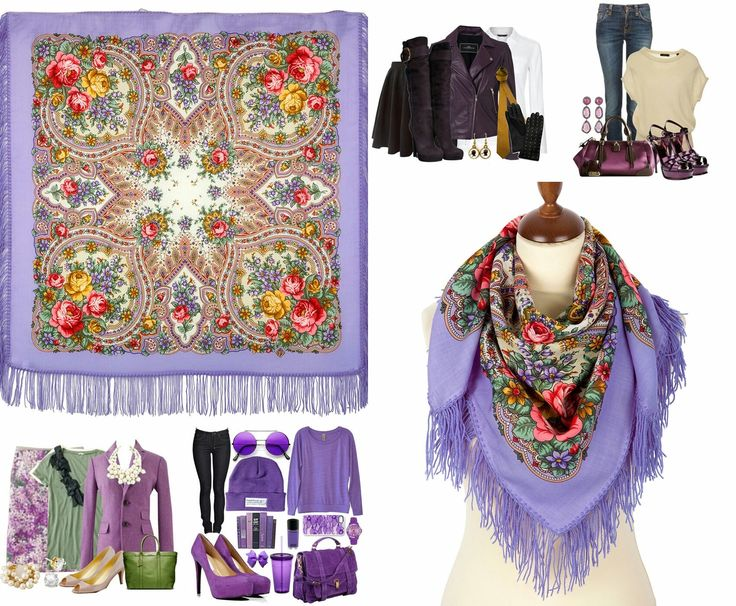 Excited to share the latest addition to my #etsy shop: Russian Wool Kerchief Pavlovo Posad Shawl Purple Floral Scarf #al #russiankerchief #woolkerchief #pavlovoposad http://etsy.me/2jX9kbw