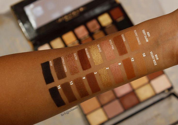 Makeup Revolution Reloaded Velvet Rose Lidschatten-Palette Duplikat für ABH Soft Glam …   – Dupes