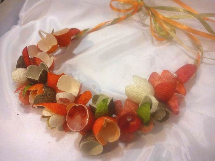 Baptism wreath handmade from silk cocoons simply particularly fashionable No1