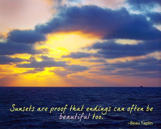 Nature Quote about sunsets