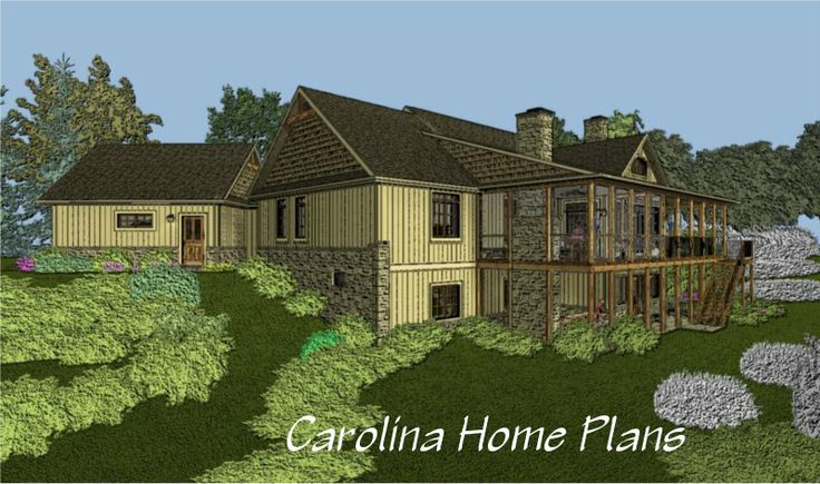76 best house plans with porches images on pinterest 3d for Craftsman house plans one story with basement