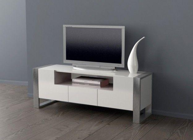 soldes Meuble tv design laqué AMSTERDAM prix soldes AchatDesign 399.00 € TTC au lieu de 599.00 €