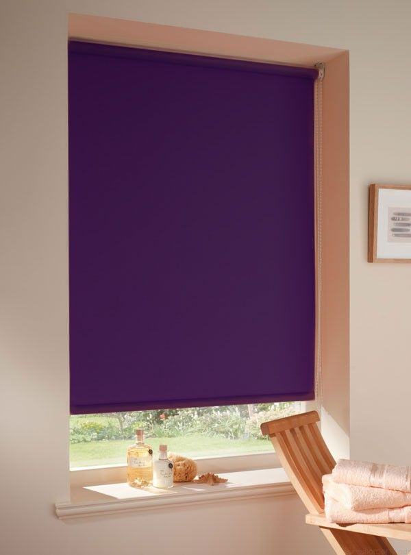Carnival purple roller blinds
