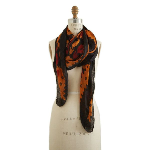 Cashmere Silk Scarf - Persimmon Leaves by VIDA VIDA kh3Ej2