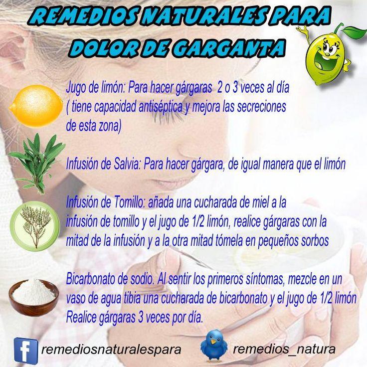 Remedios naturales para el dolor de garganta http://mejoresremediosnaturales.blogspot.com/