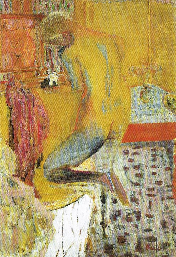 The bonnard nude bath in