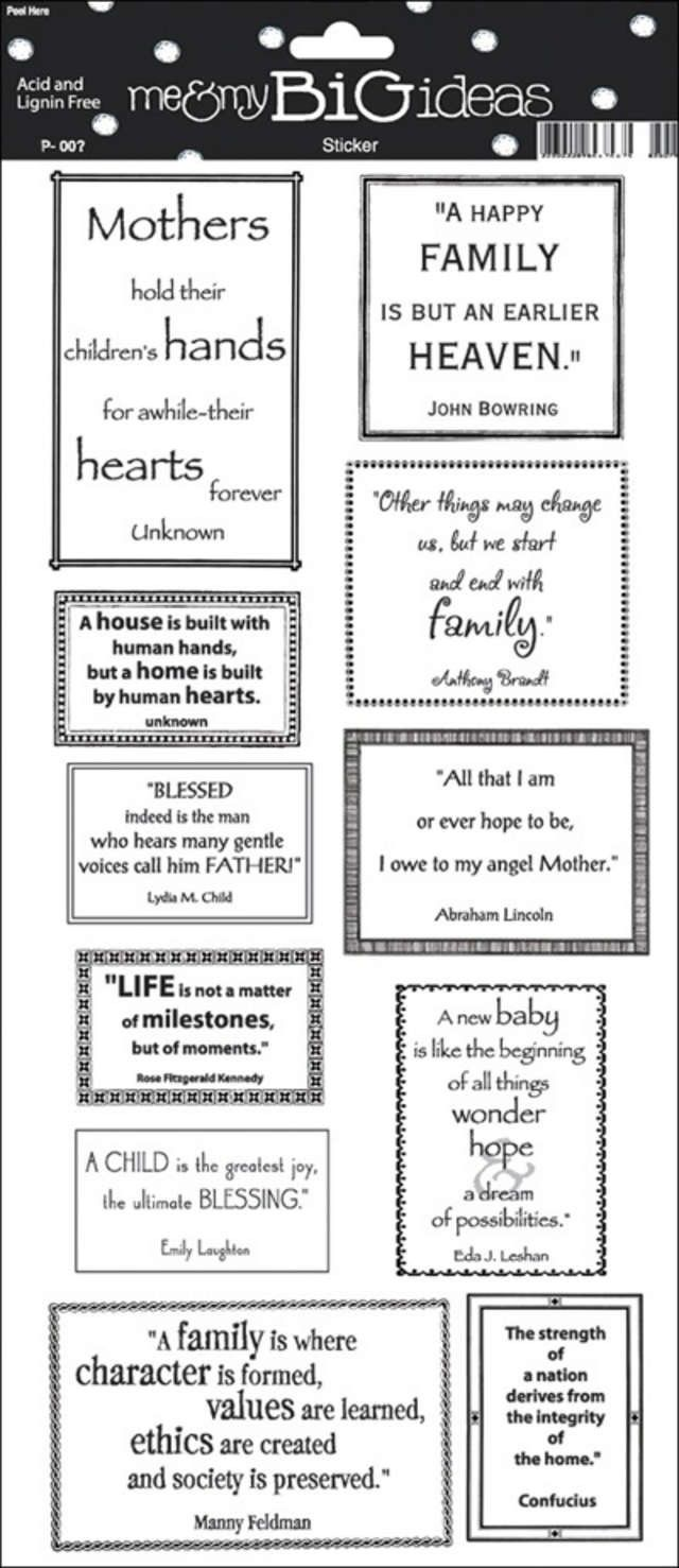 Car sticker family maker - Family Quote Sayings Stickers 5 5 X12 Sheet Stp 21 Scrapbooking Stickers