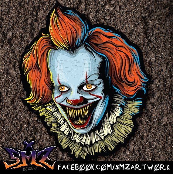 Pennywise The Dancing Clown 2017 Sticker It Horror Movie