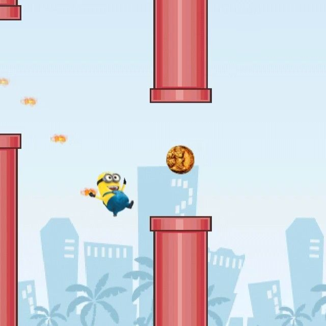Make a flying #Minion with the Flying Avatar game!  The new Flying Avatar game for iPhone and iPad is coming soon to the App Store! Make any character! Make ANY flying avatar you want! Similar game to Flappy Bird, but with the UNIQUE, one and only feature: create any character you want! Can you beat the highscore with your own Avatar? #flyingavatar > #flappybird #highscore #games #funapp http://www.flyingavatar.com