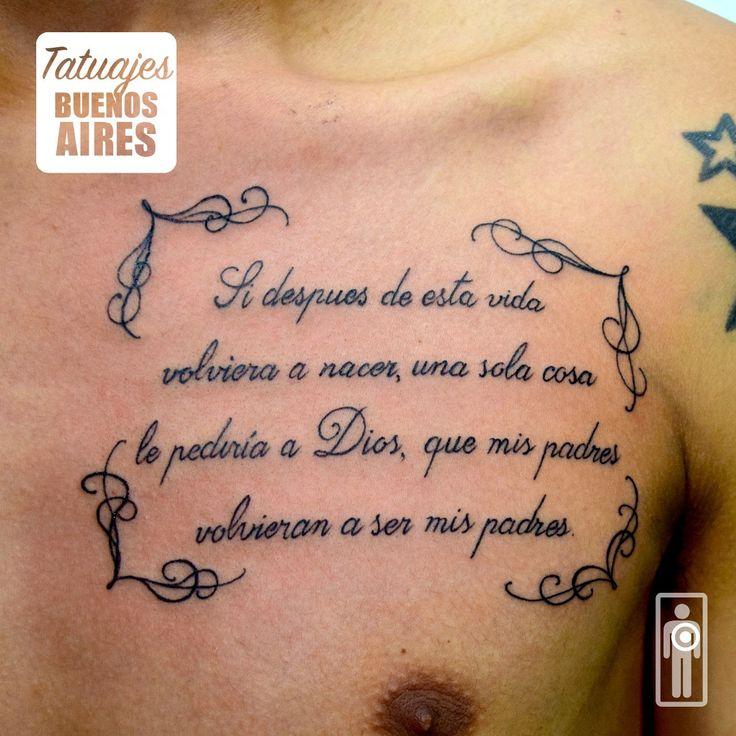 Leyenda de vida en el pecho realizado en tatuajes Buenos Aires por @Jose Segura  Monserrat, ciudad autónoma de Buenos Aires Argentina #tattoo #frase #parrafo #leyenda #escrito #pecho #vida #si #despues #de #esta #vida #volviera #a #nacer #solo #una #cosa #le #pediria #a #dios # que mis #padres #volvieran #a #ser #mis #estudio #tatuajes #buenos #aires #capital