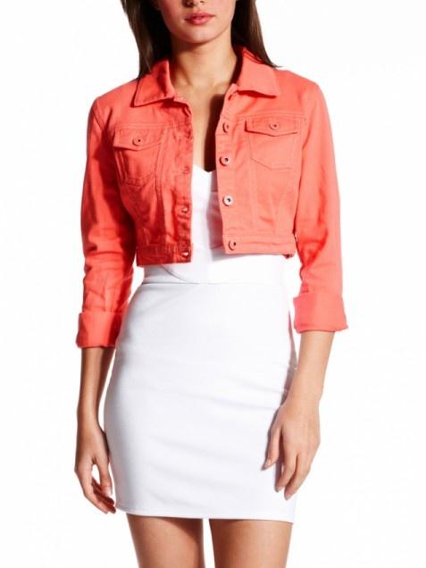 Jeans, Denim, cheap jeans, cropped jean jacket, coral denim, colored denim