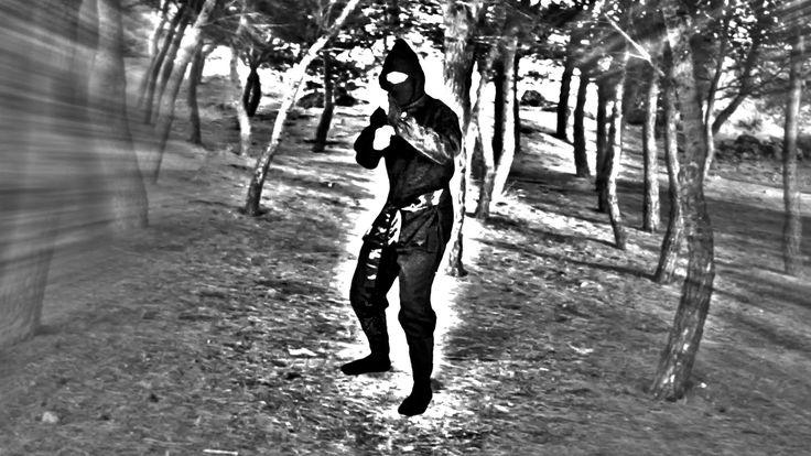 "How did he do that?! Ninja Cloak: Disappearing Ninja Assassin.   Watch the video ""Ninja Cloak"" here https://youtu.be/-BaD3e82mqM #ninja"