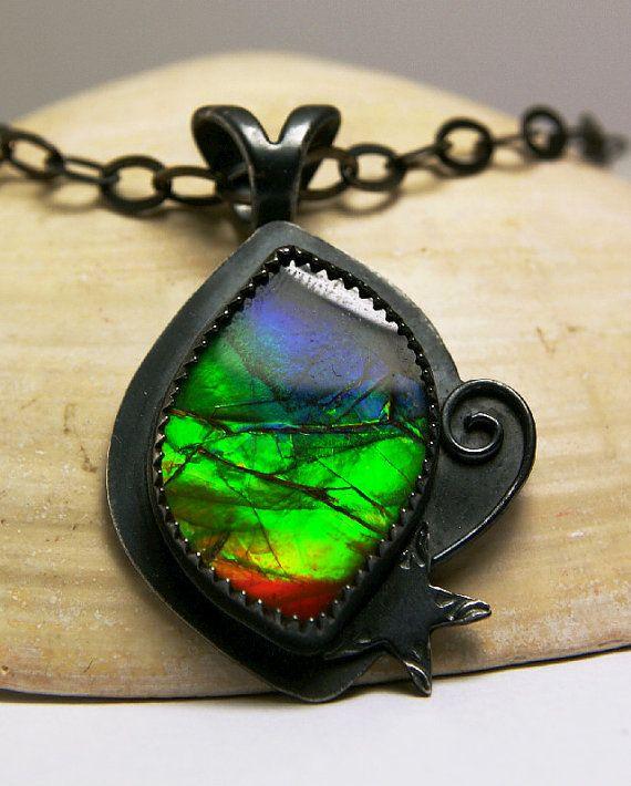 ed152663c8e461 beautiful rainbow ammolite | Stuff I Love <3 | Natural stone jewelry,  Jewelry, Handmade necklaces