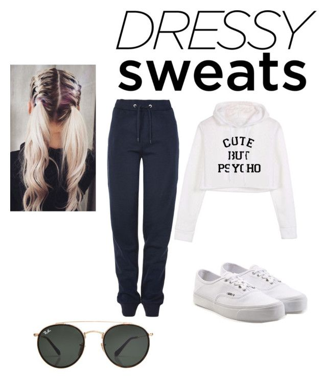 dressy sweats by chiara30stm on Polyvore featuring polyvore fashion style Tommy Hilfiger Vans Ray-Ban clothing