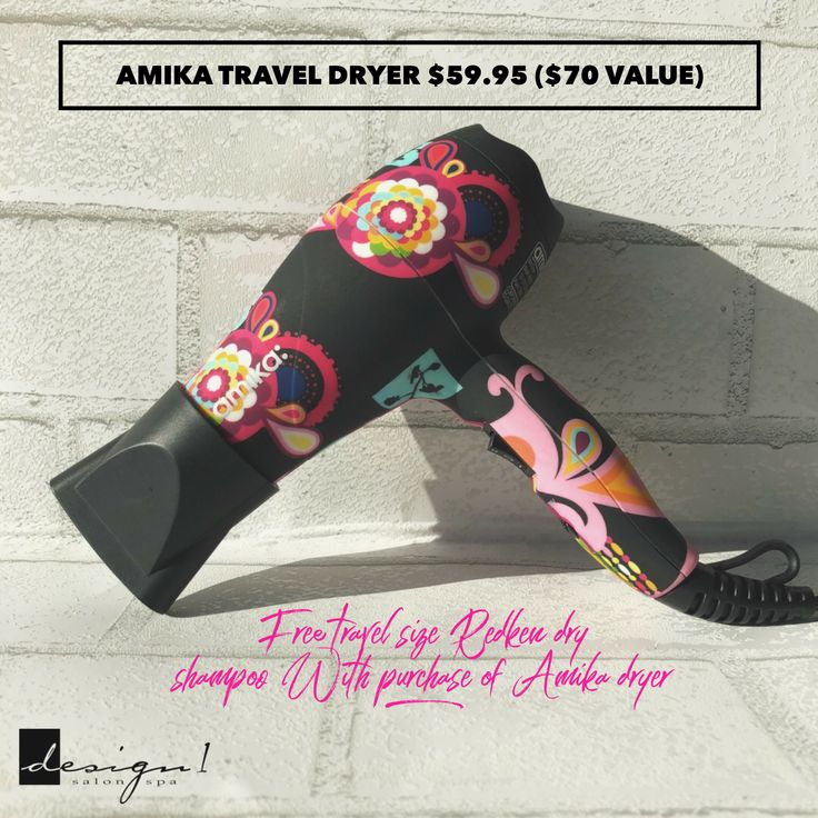Hot deal alert! Buy an Amika hair dryer at $59.95 (regularly $70) and you'll receive a travel size Redken two day extender dry shampoo for free during March! #Design1SalonSpa #grandrapids #gaines #kalamazoo #portage #grandville #plainfield #cascade #hairrebellion