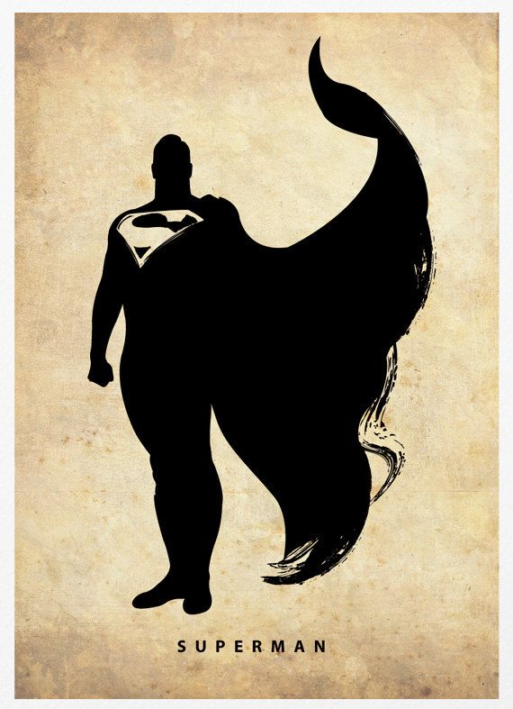 """Superman Poster A3 Print"" by Marcus (""Posterinspired""), $18.00"