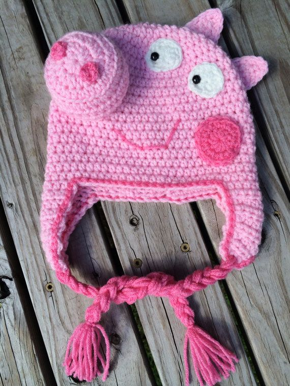Hey, I found this really awesome Etsy listing at https://www.etsy.com/listing/243134454/peppa-pig-hat