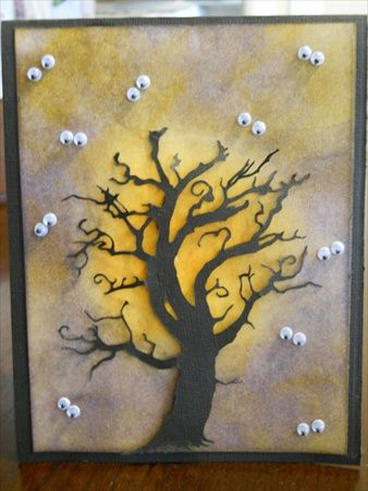Spooky Tree by Holly Thompson - Cards and Paper Crafts at Splitcoaststampers