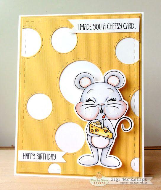 The Cricut Bug: Cheesy Mouse Card