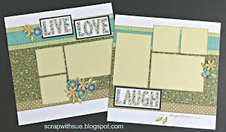 Scrap with Sue: May Stamp of the Month - Live Love Laugh