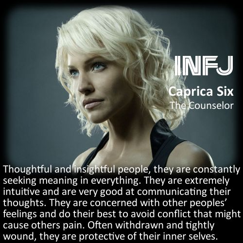 Find Your Callsign: Battlestar Galactica Personality Chart - Caprica Six [INFJ]