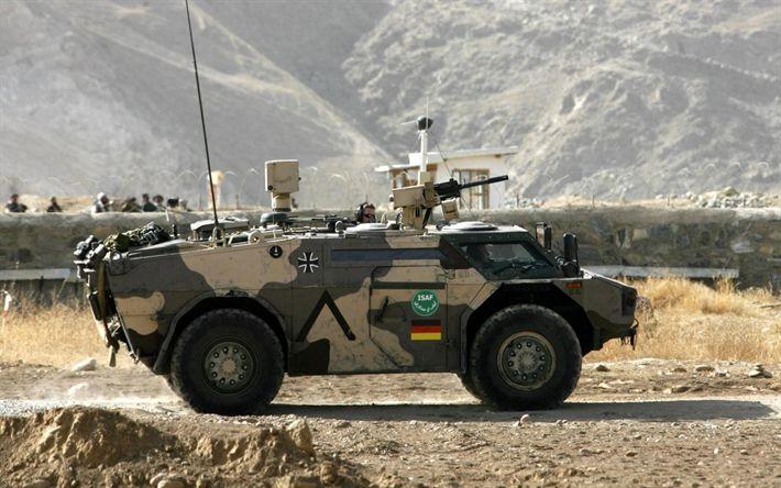 Descargar fondos de pantalla Coche blindado, Fennek, de reconocimiento de coches blindados, alemán de vehículos de combate, modernos vehículos blindados, el Ejército de Alemania