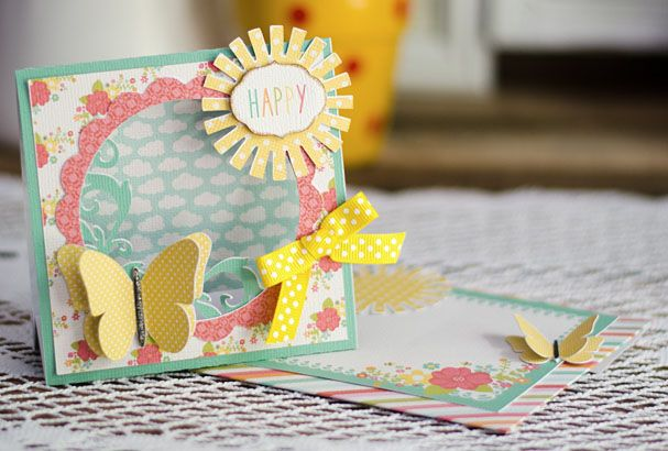 Lori Whitlock butterfly card