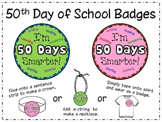 50th day of school badge