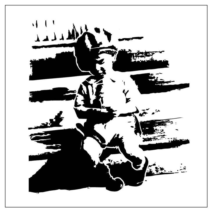 Custom stencil (3) Dad on the steps, Dad in a chair, Happy Man and cactus by PearlDesignStudio on Etsy