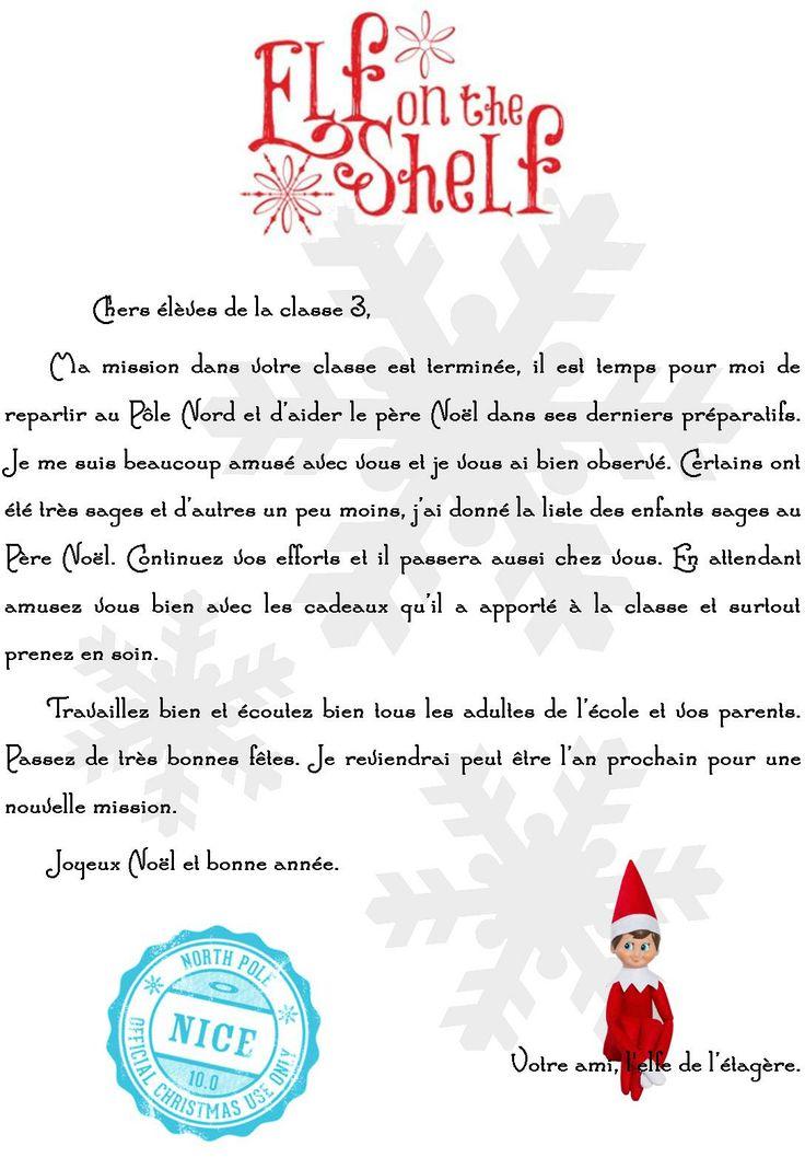 Lettre d'adieu à notre petit Elfe, un vrai succès ce livre ! (Elf on the shelf)