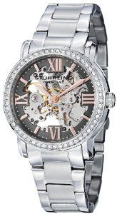 Stuhrling Original Women's 430L.121154 Regent Lady Consul Automatic Skeleton Swarovski Grey Dial Watch