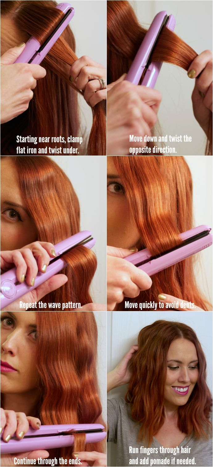 Step by step tutorial for a wavy look. Great for short and medium length hair
