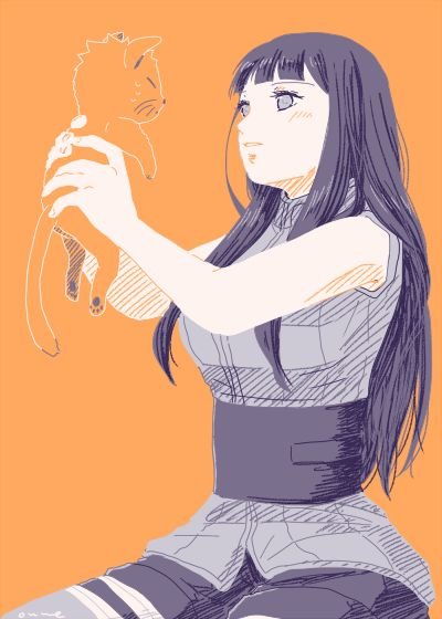 I like to imagine that instead of Naruto, that cat s Kyo from Fruits Basket XD