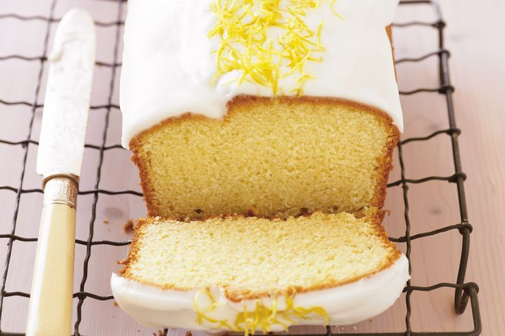 This irresistibly moist yoghurt cake is given the final touch with a drizzle of lemon icing.