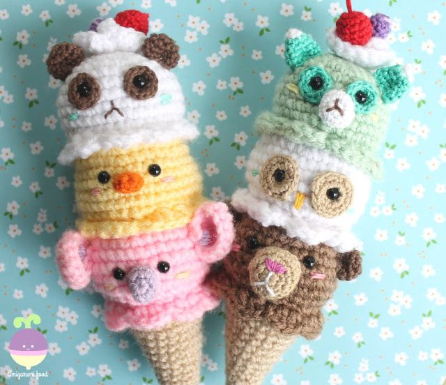 Ice cream Crochet Pattern Play food Amigurumi Food #crochetfood #amigurumifood
