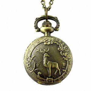 Youyoupifa Retro Design Bronze Giraffe Pattern Cover Pocket Quartz Watch NBW0PA7098-CO3 Youyoupifa. $3.58