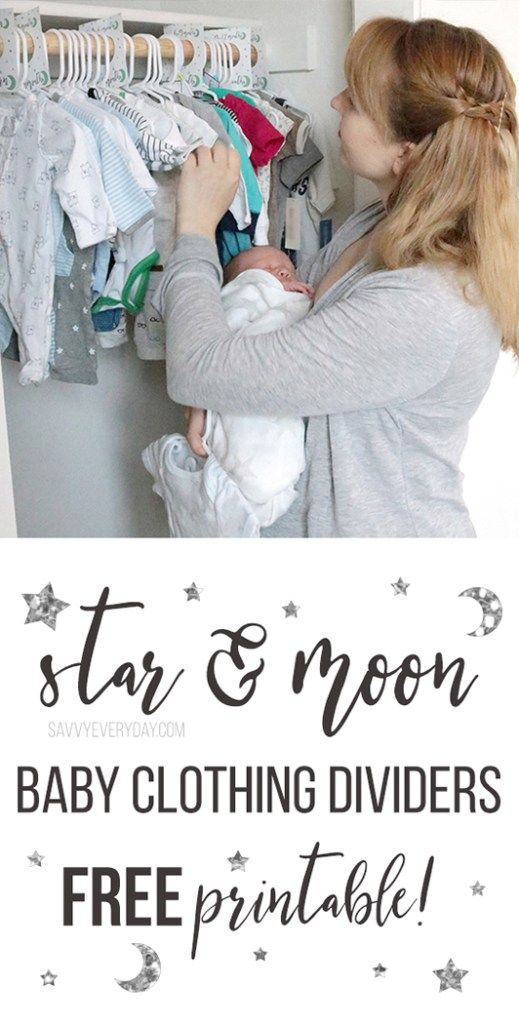 Free Download! Celestial Clothing Dividers For Baby's Nursery