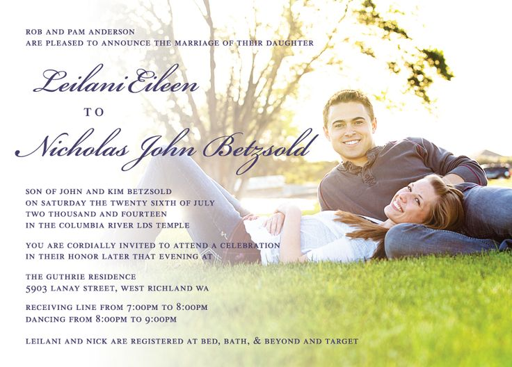 Lailanie U0026 Nicholas Front   Utah Announcements | Wedding Invitations