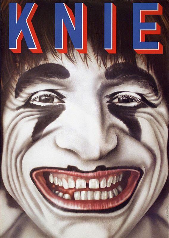 Jung Roli Knie Year 1979 Circus Art Clown Halloween Face