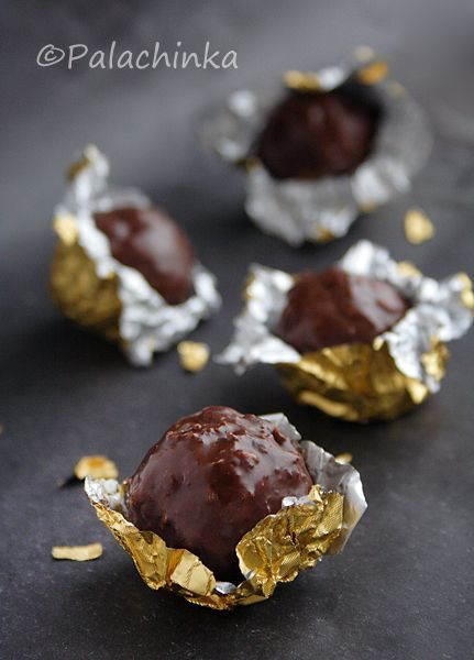 Homemade Ferrero Rocher!!Ferrero Rocher Recipe, Food, Homemade Truffles, Christmas Candies, Homemade Ferrero Rocher, Rocher Chocolates, Sweets Tooth, Chocolates Candies Make, Copycat Recipe