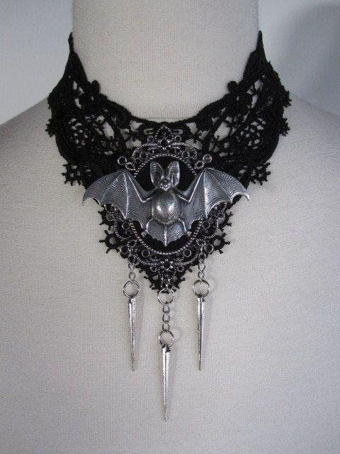 Bat Lace Necklace Choker Gothic