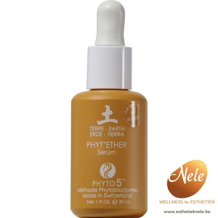 Phyto 5 Phyt'ether – serum aarde is 100% natuurlijk, werkt celvernieuwend en wordt aanbevolen bij huid met teveel gifstoffen, een dikke huid of een huid met acné.