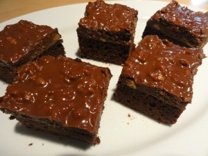 Crunchy Peanut Butter Cup Brownies