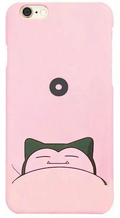 capinha capa case iphone 6 6s pokemon snorlax