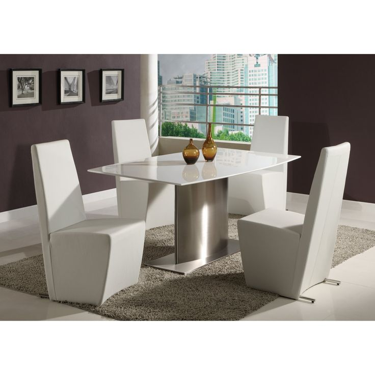 Chintaly Cynthia 5 Piece Modern Dining Table Set - CTY1222
